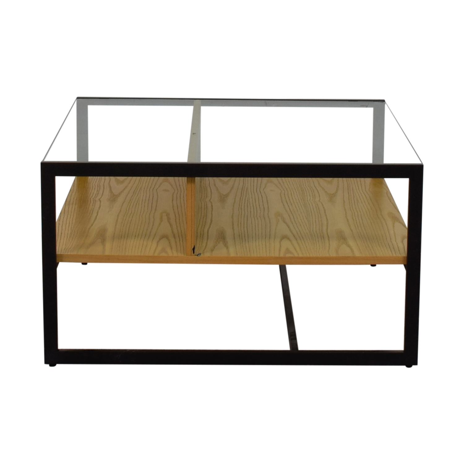 West Elm Wood and Glass Coffee Table / Tables