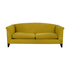 Crate & Barrel Crate & Barrel Silhouette Yellow Two-Cushion Sofa discount