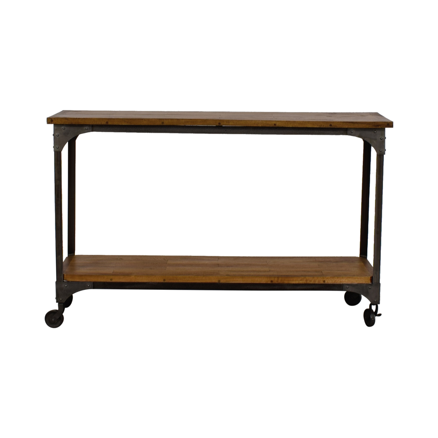 shop World Market Aiden Wood and Metal Console Table World Market Accent Tables