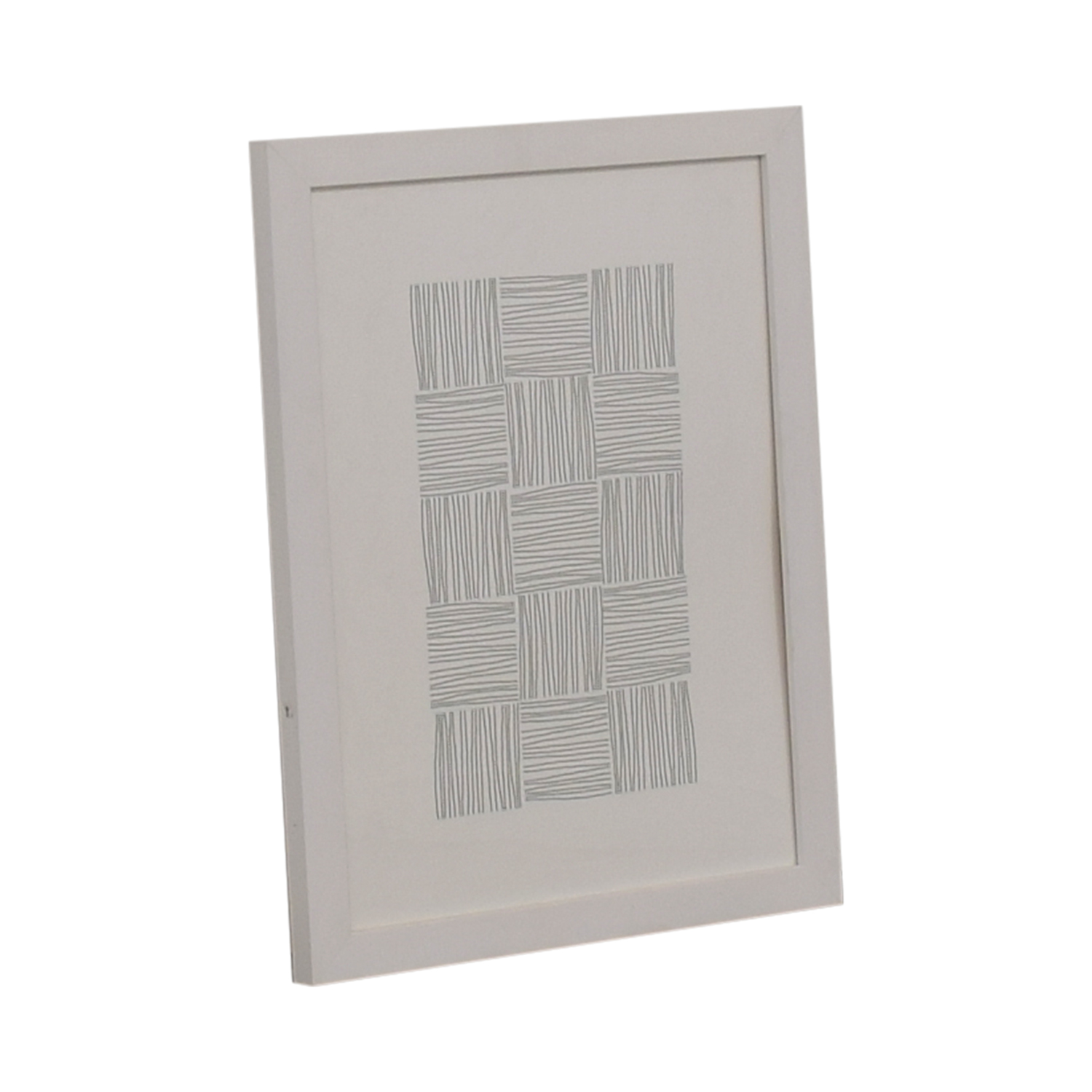 buy White and Grey Framed Print  Wall Art