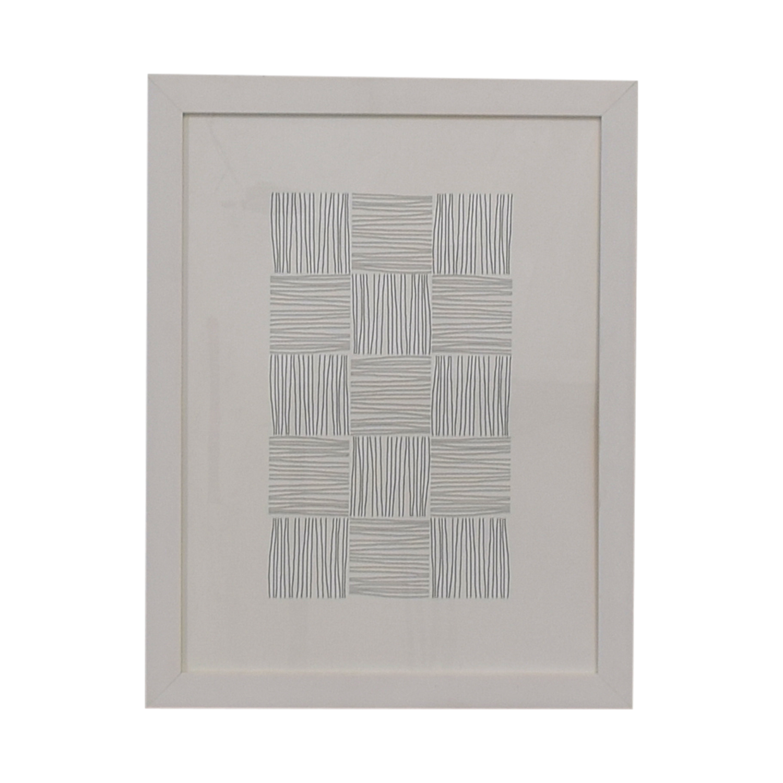buy White and Grey Framed Print