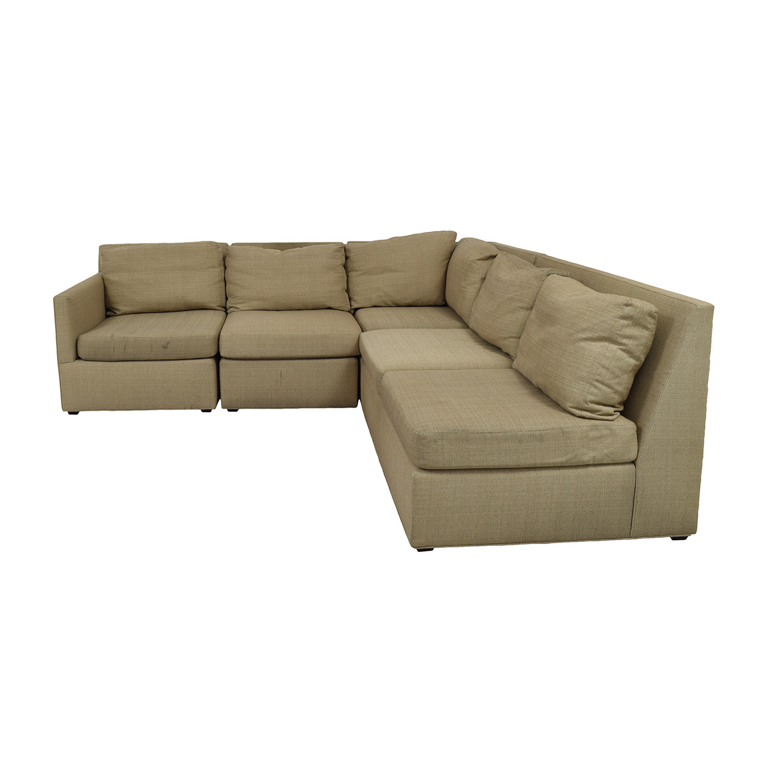 shop Crate & Barrel Crate & Barrel Beige L-Shaped Sectional online