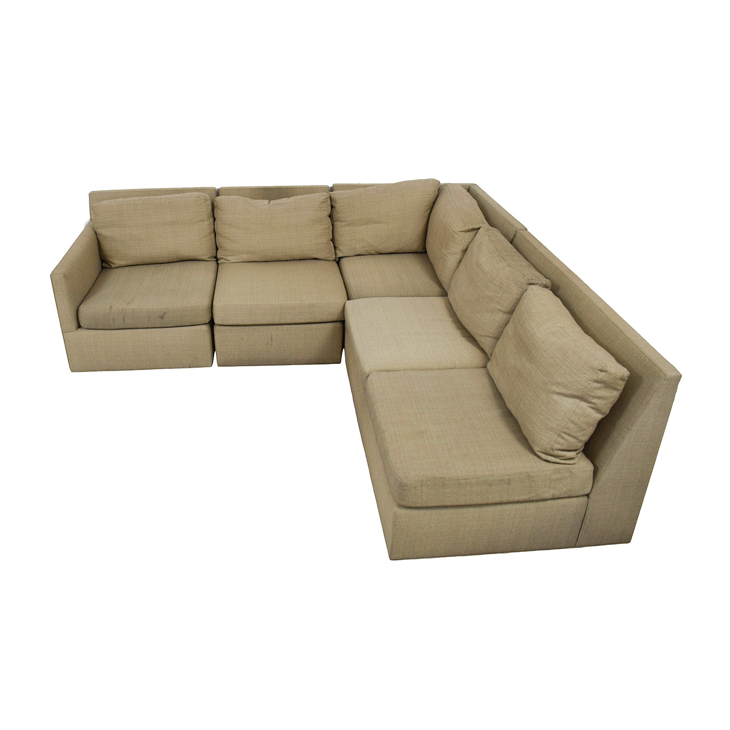 Crate & Barrel Crate & Barrel Beige L-Shaped Sectional used