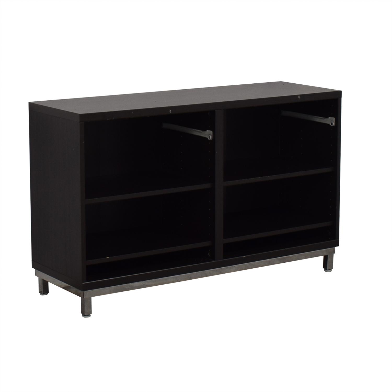 90 Off Ikea Ikea Black Credenza Or Sideboard Storage