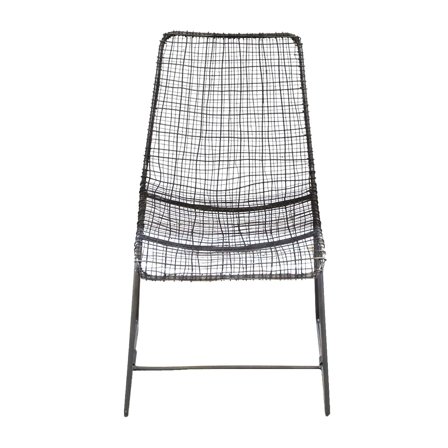buy CB2 Charcoal Wire Chair CB2