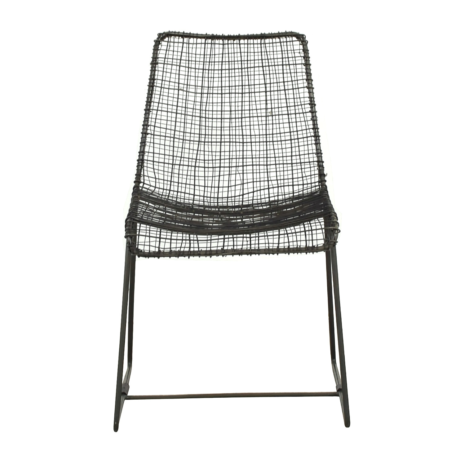 CB2 CB2 Charcoal Wire Chair second hand