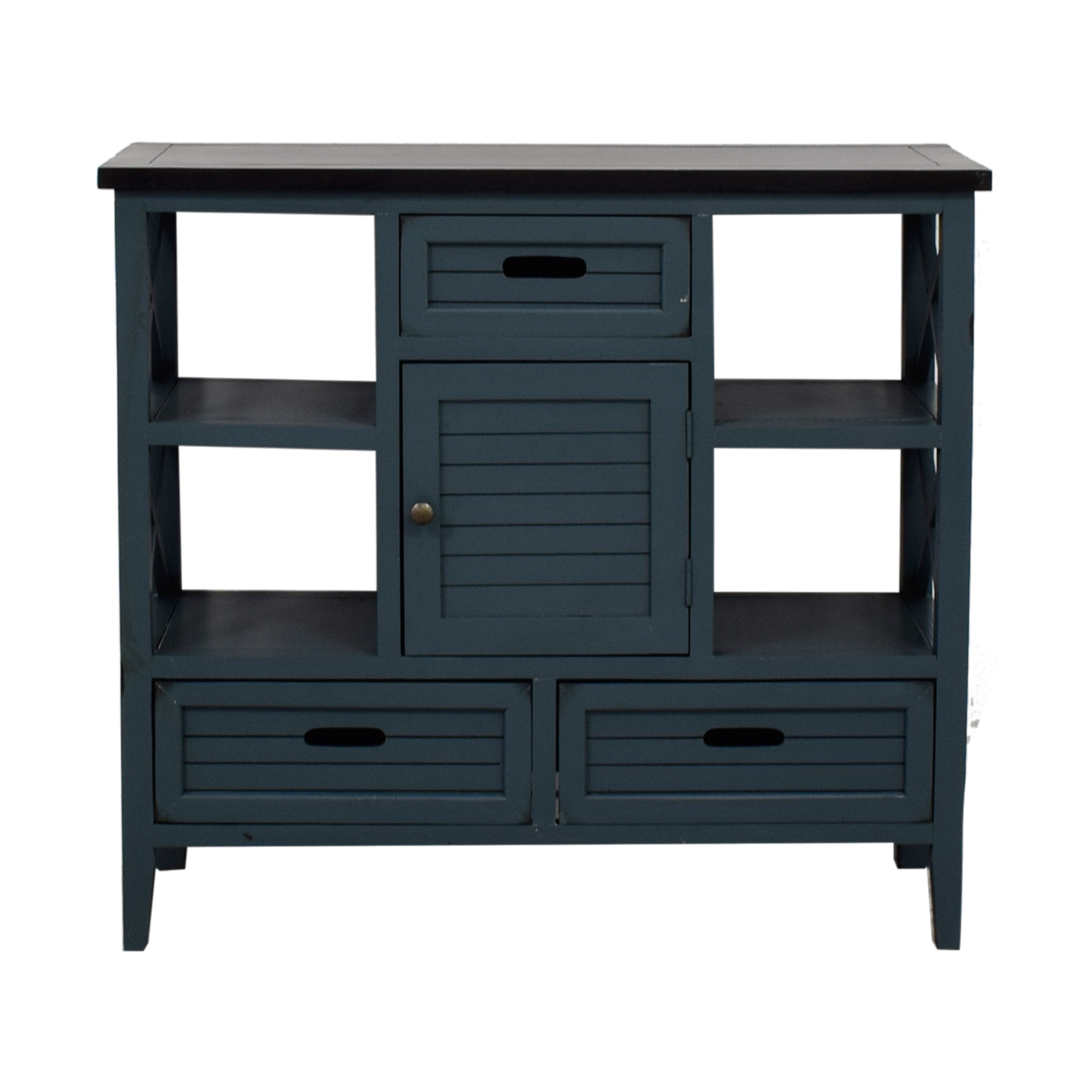 Blue Wood Bar Cabinet on sale
