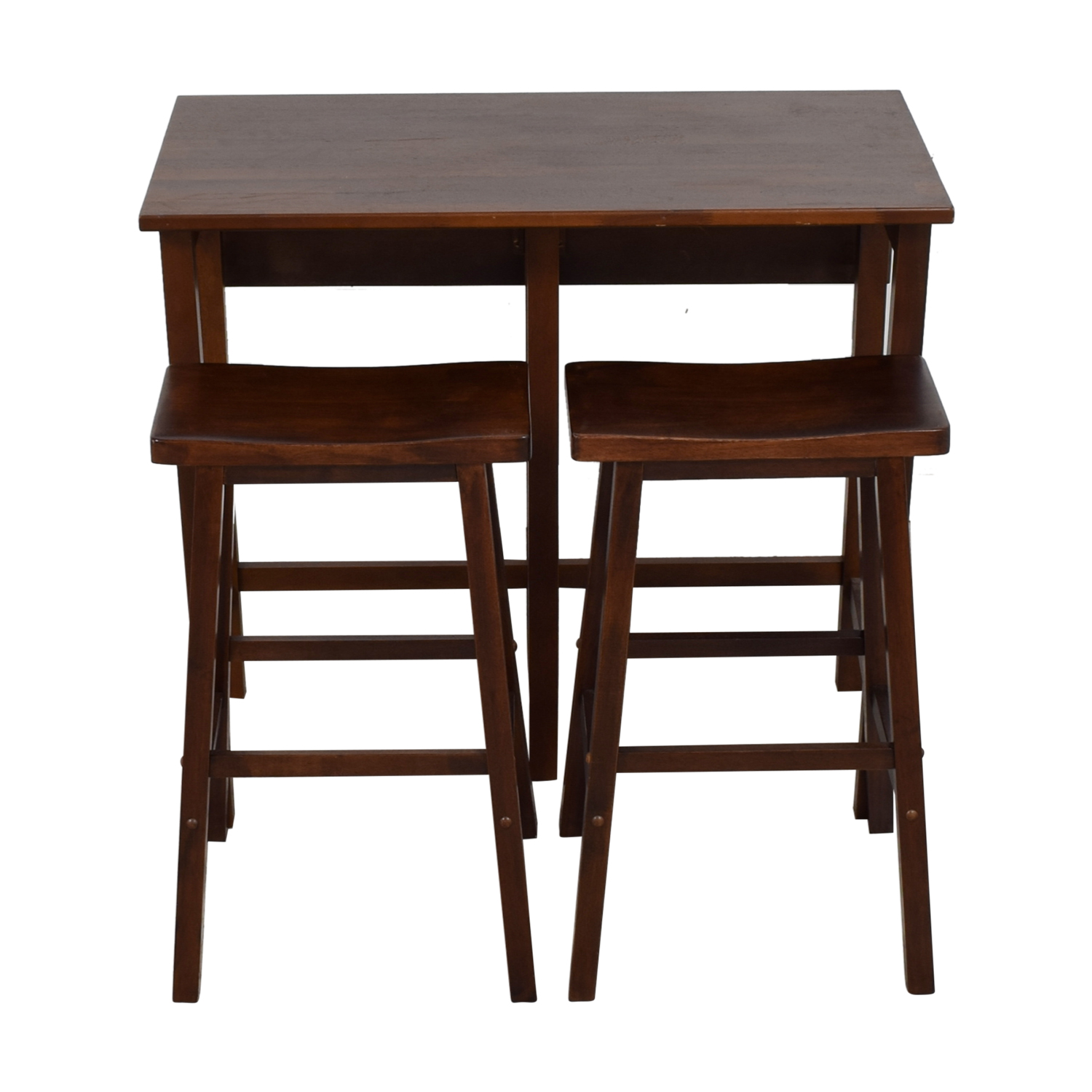 shop One Sided Wood Drop Leaf Kitchen Set with Stools  Tables