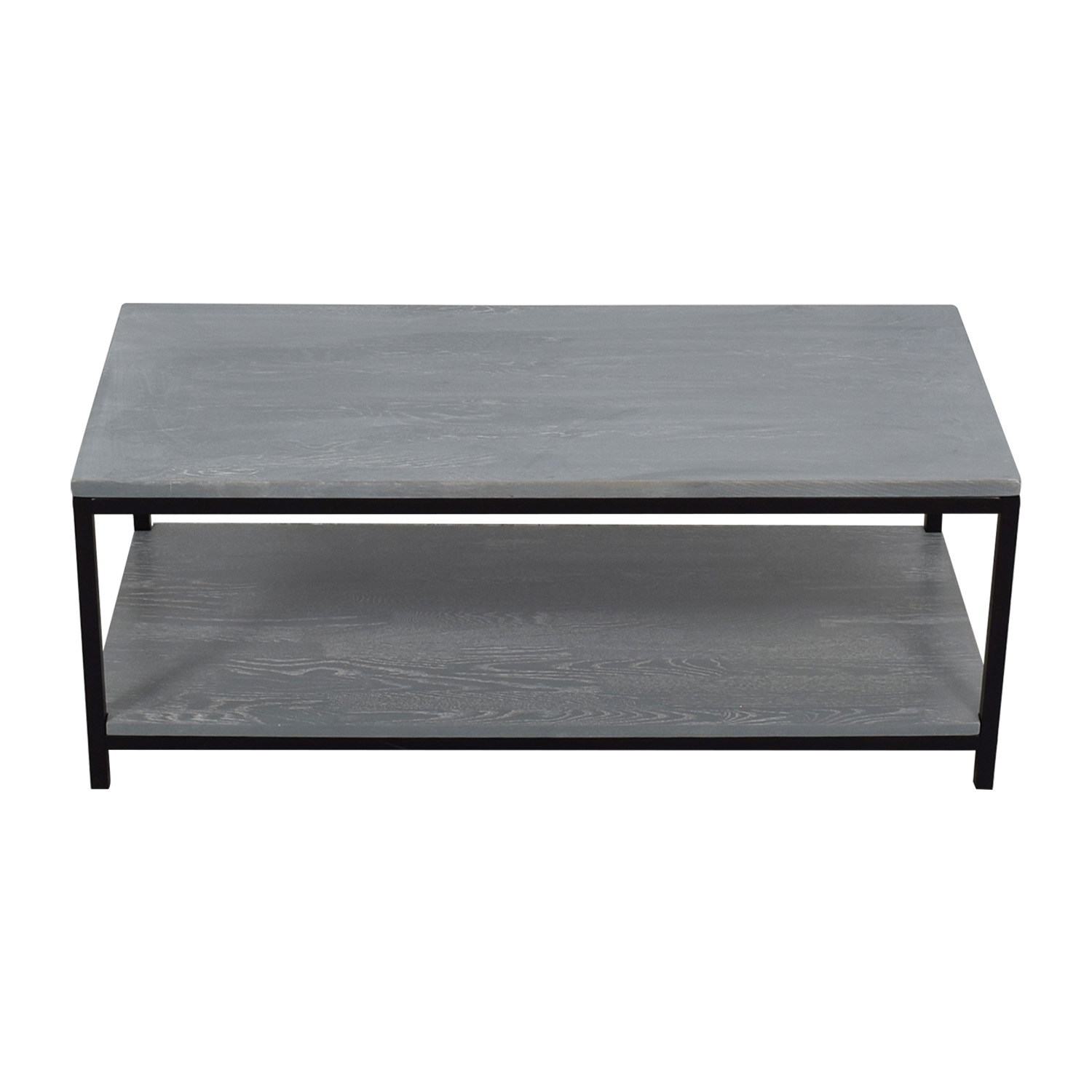 American Trails Grey Wood and Metal Coffee Table / Tables