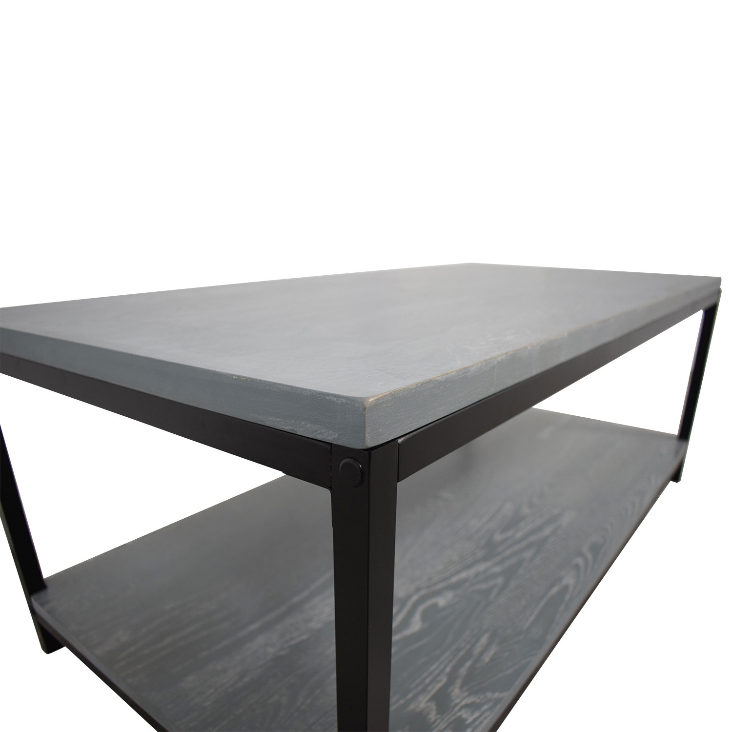shop American Trails Grey Wood and Metal Coffee Table American Trails Coffee Tables
