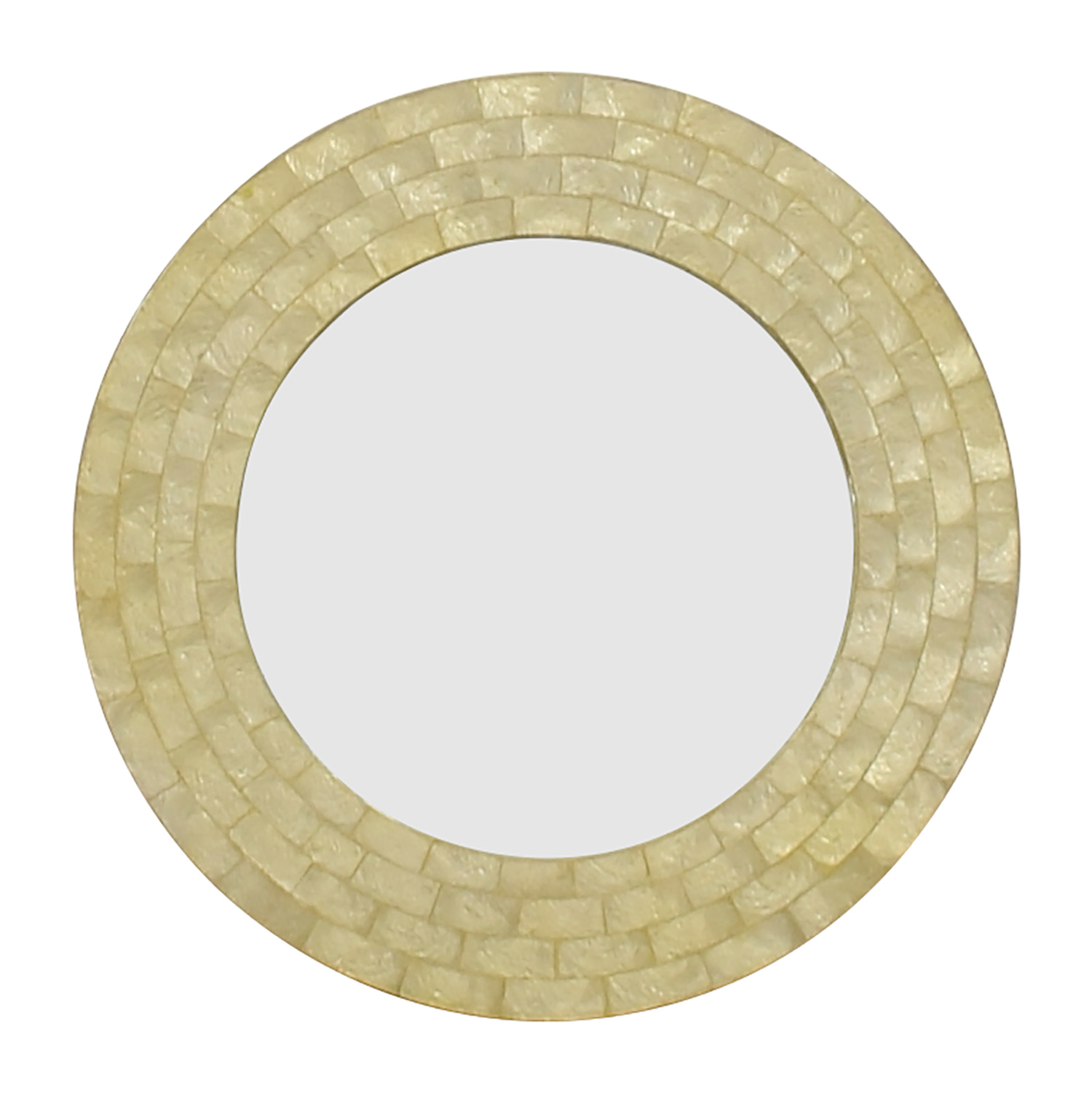 70% OFF - West Elm West Elm Mother of Pearl Round Mirror / Decor