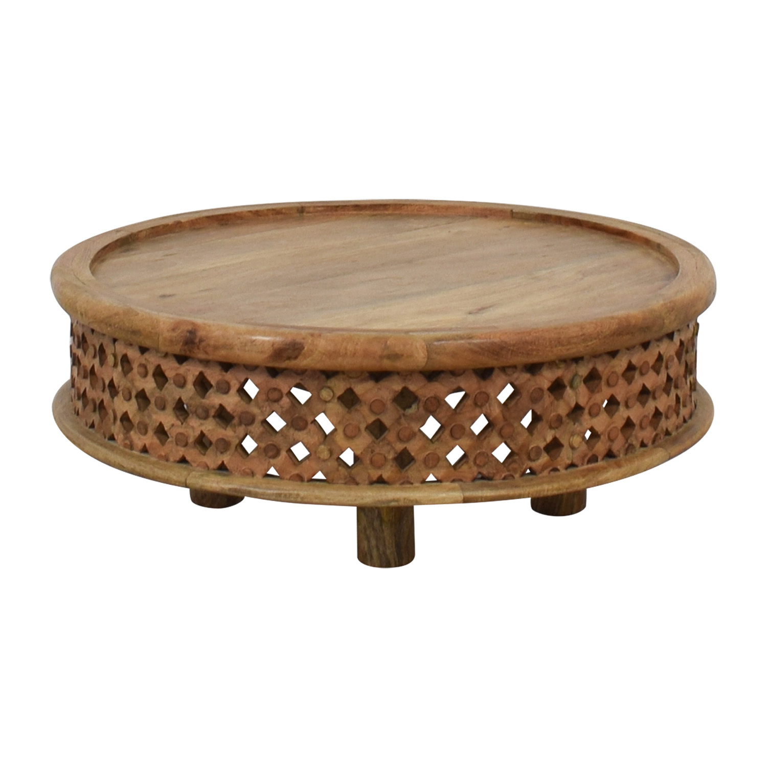 West Elm West Elm Carved Wood Table dimensions