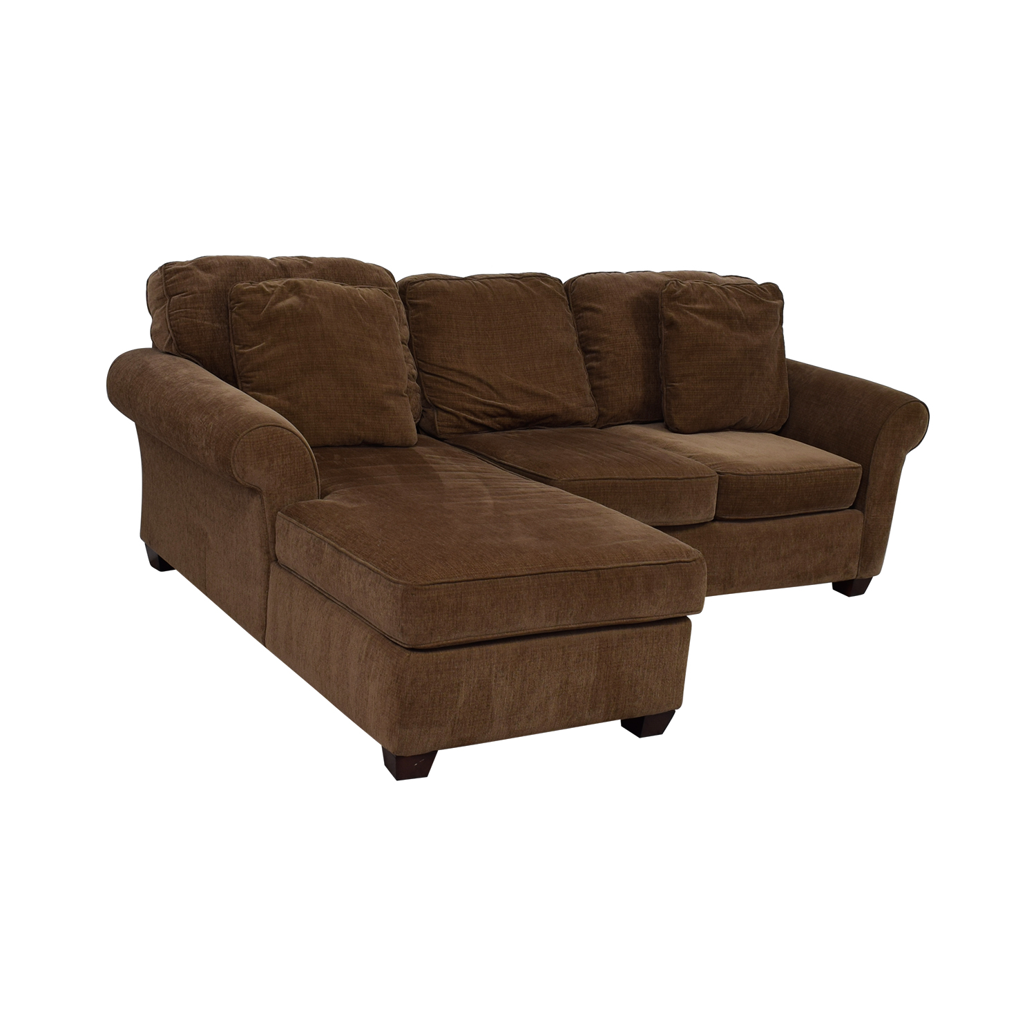 68 Off Raymour Amp Flanigan Raymour Amp Flanigan Brown Multi Colored Tweed Chaise Sectional Sofas
