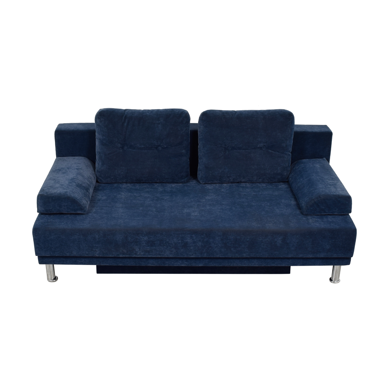 shop Allegro Salotti Allegro Salotti Blue Velvet Covertible Sofa online