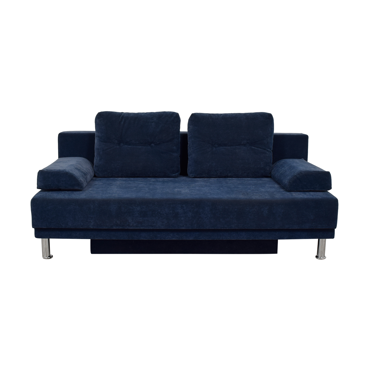 Allegro Salotti Allegro Salotti Blue Velvet Covertible Sofa second hand