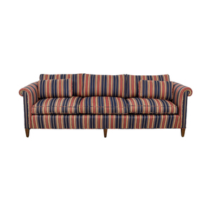 Navy and Red Multi Color Roll Arm Sofa nyc