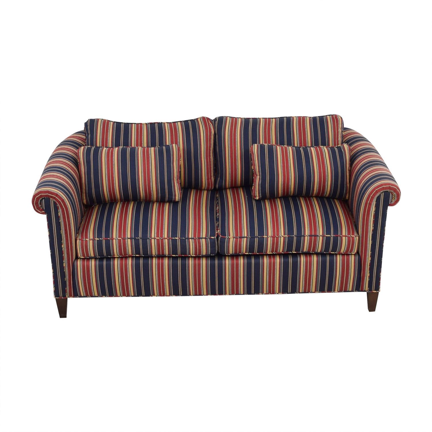 Red and Blue Multi Color Loveseat for sale
