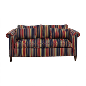 Red and Blue Multi Color Loveseat dimensions