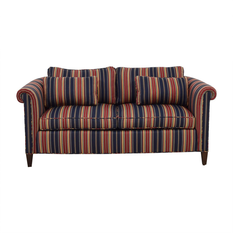 Red and Blue Multi Color Loveseat nyc