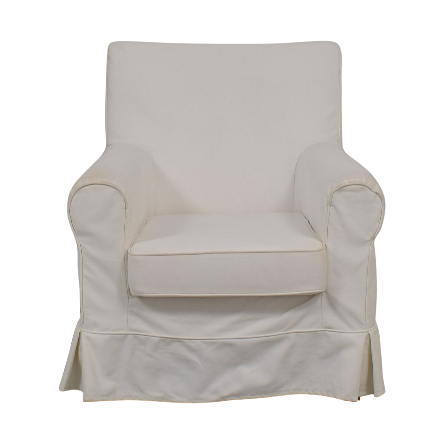 90 Off Ikea Ikea Eltorp Jennylund White Skirted Accent Chair Chairs