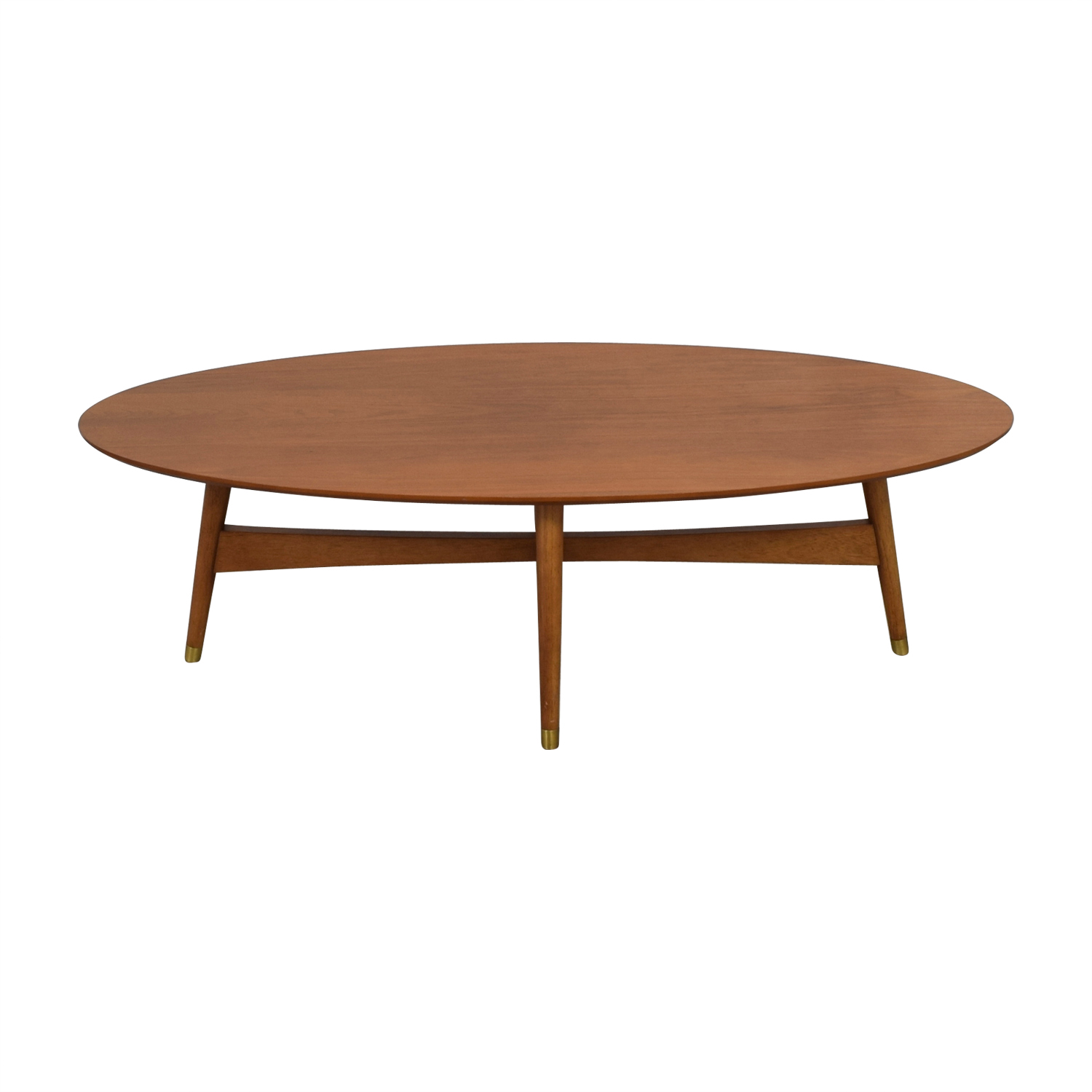 West Elm Reeve Pecan Oval Coffee Table / Tables