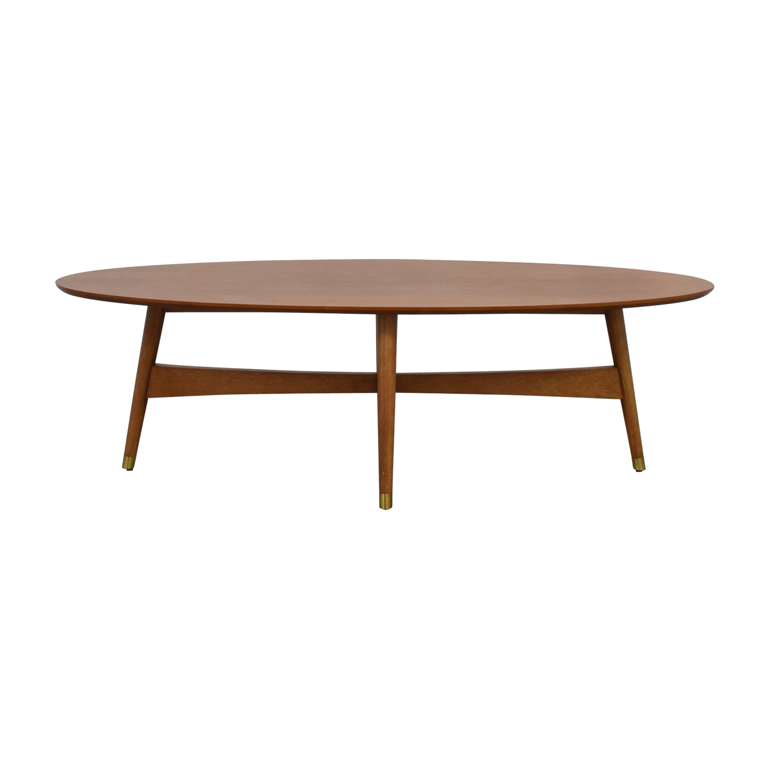 shop West Elm Reeve Pecan Oval Coffee Table West Elm Coffee Tables