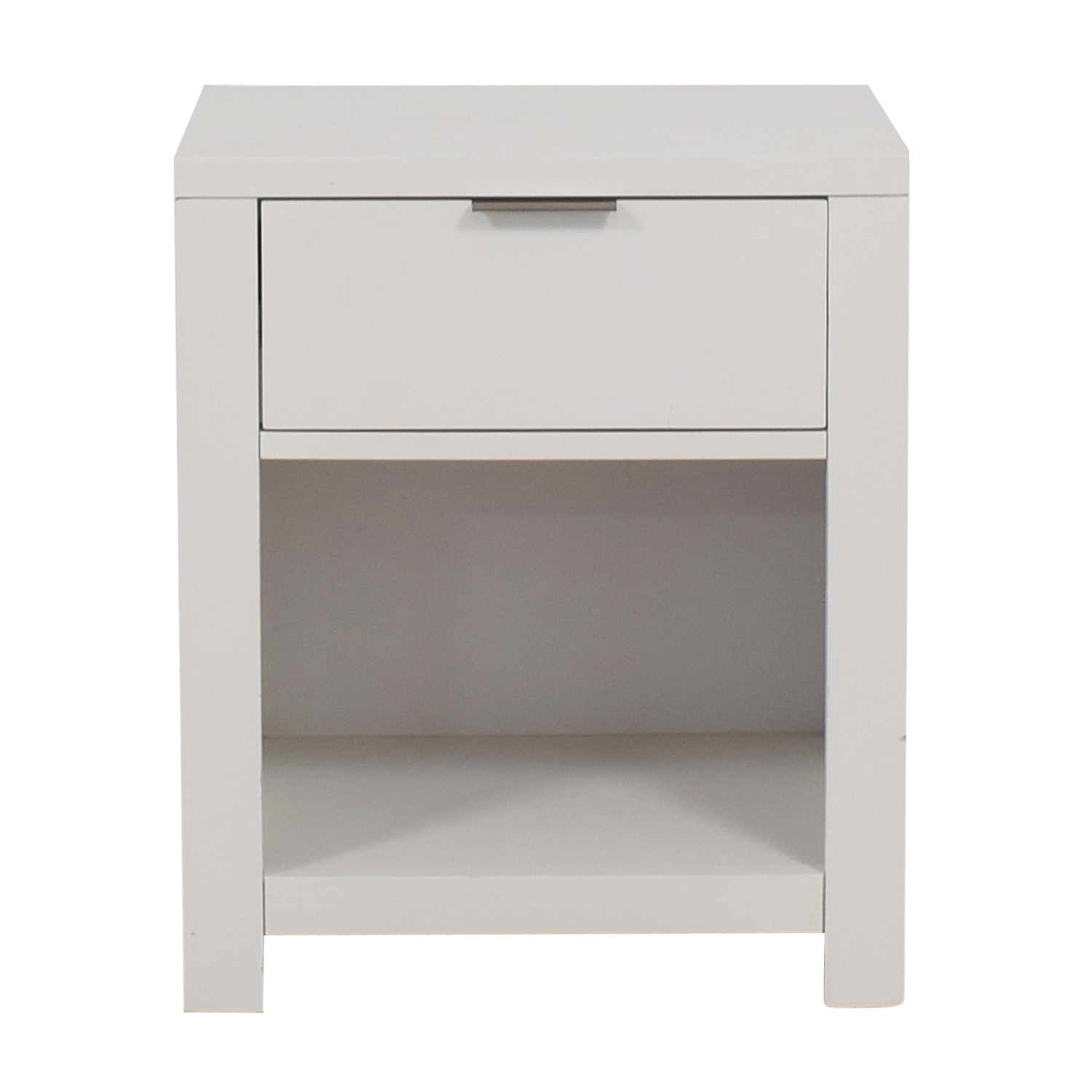 buy Home Meridian Home Meridian Tribeca White Single Drawer Nightstand online