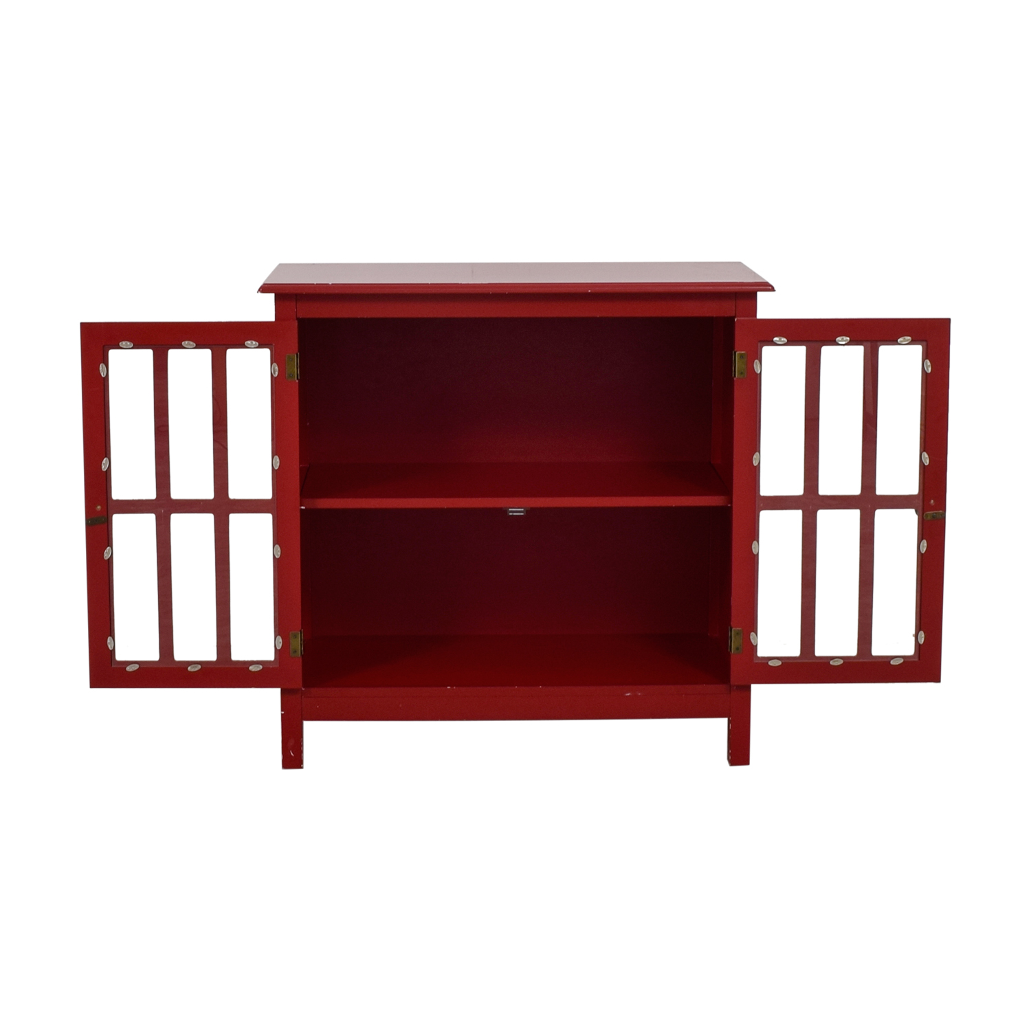 Double Door Glass Red Cabinet coupon