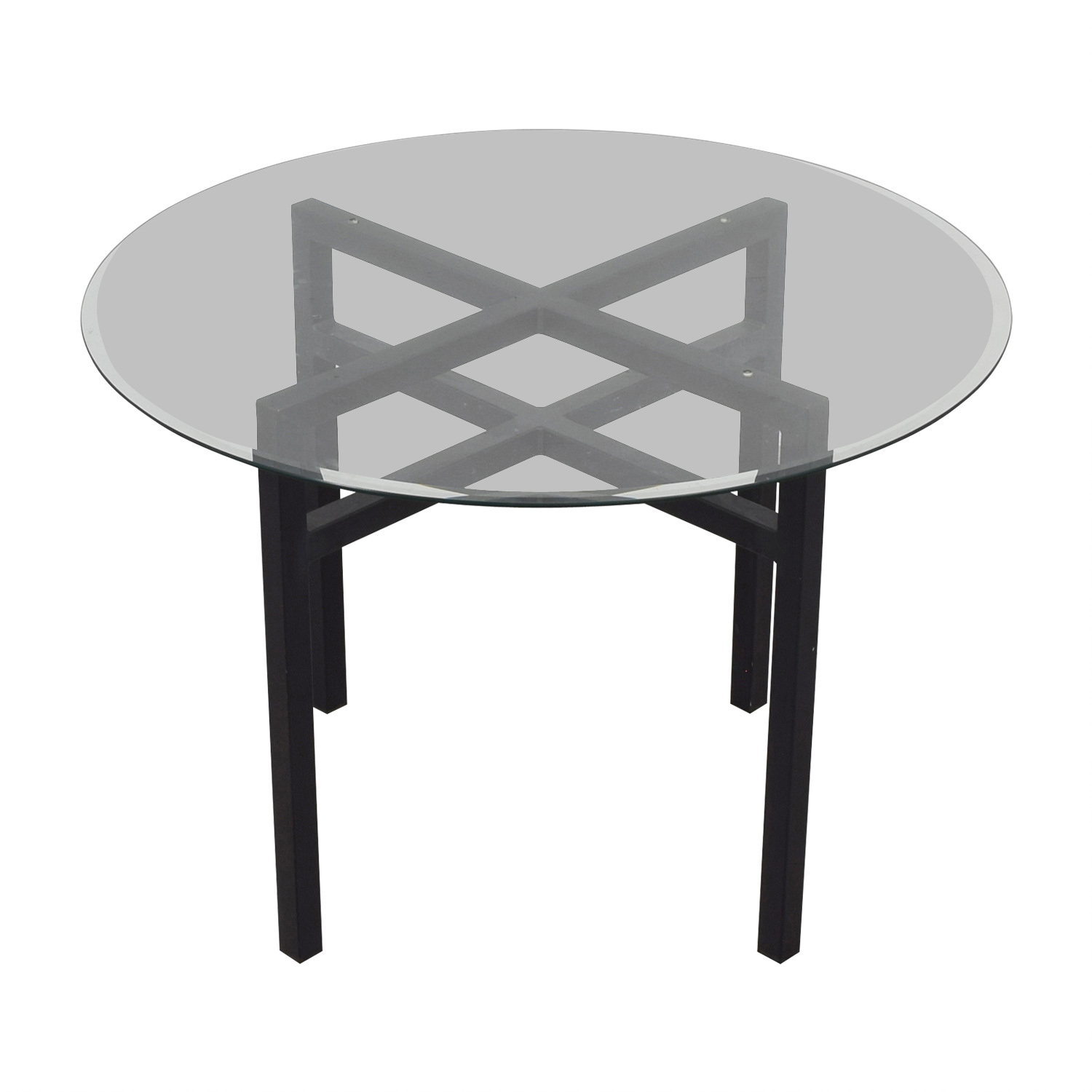 Room & Board Benson Round Glass Top Dining Table / Tables