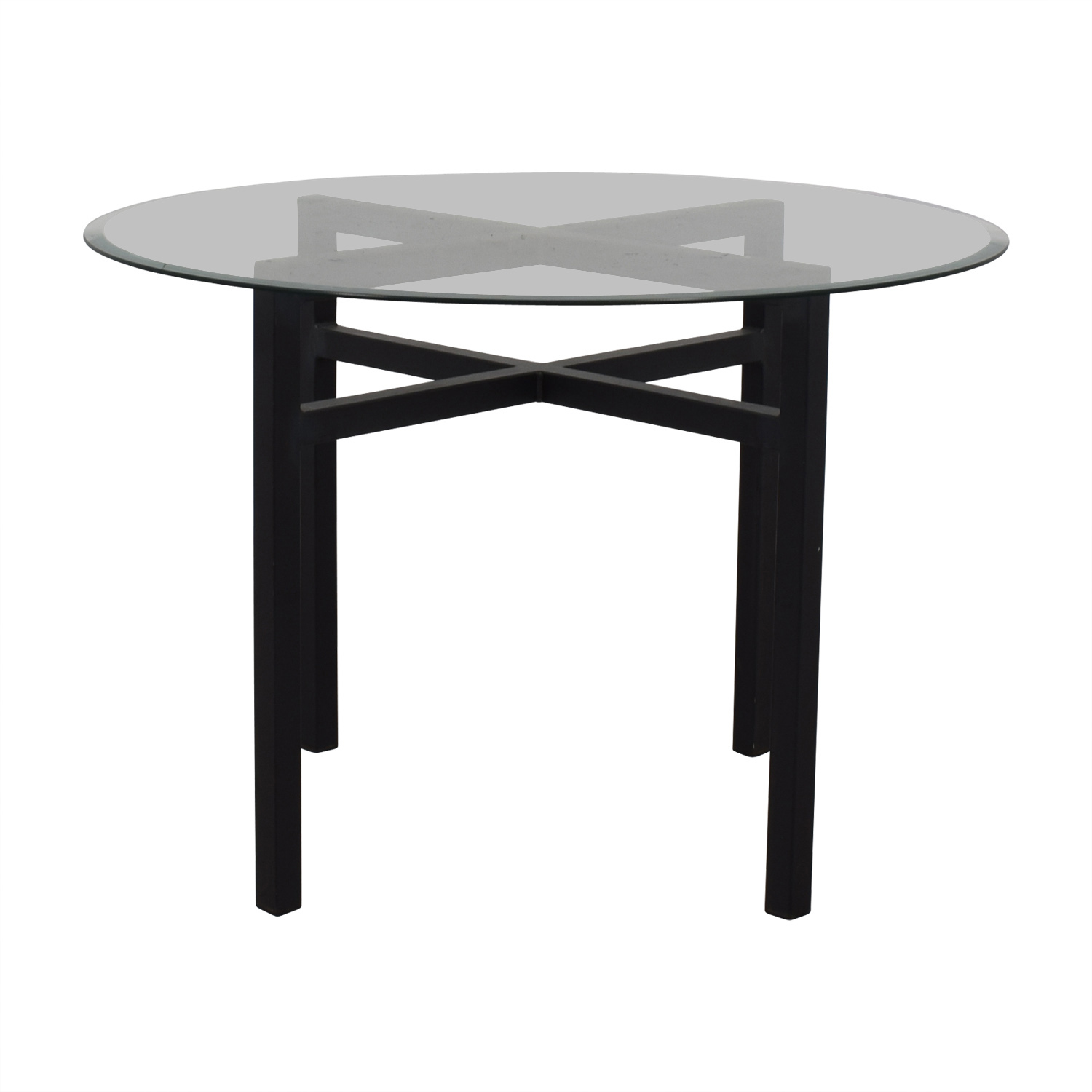 Room & Board Room & Board Benson Round Glass Top Dining Table price