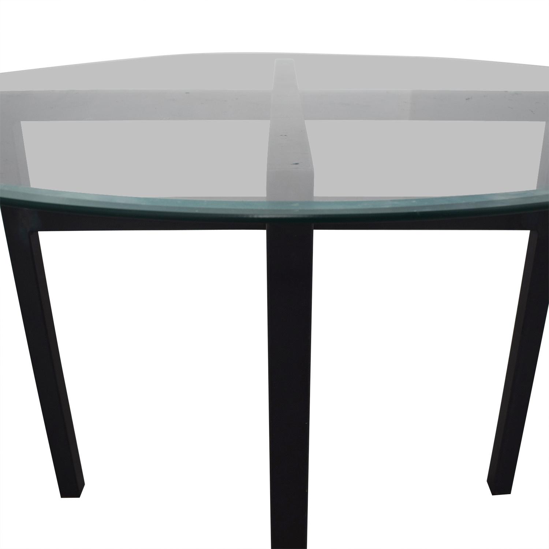 Charmant ... Shop Room U0026 Board Benson Round Glass Top Dining Table Room U0026 Board