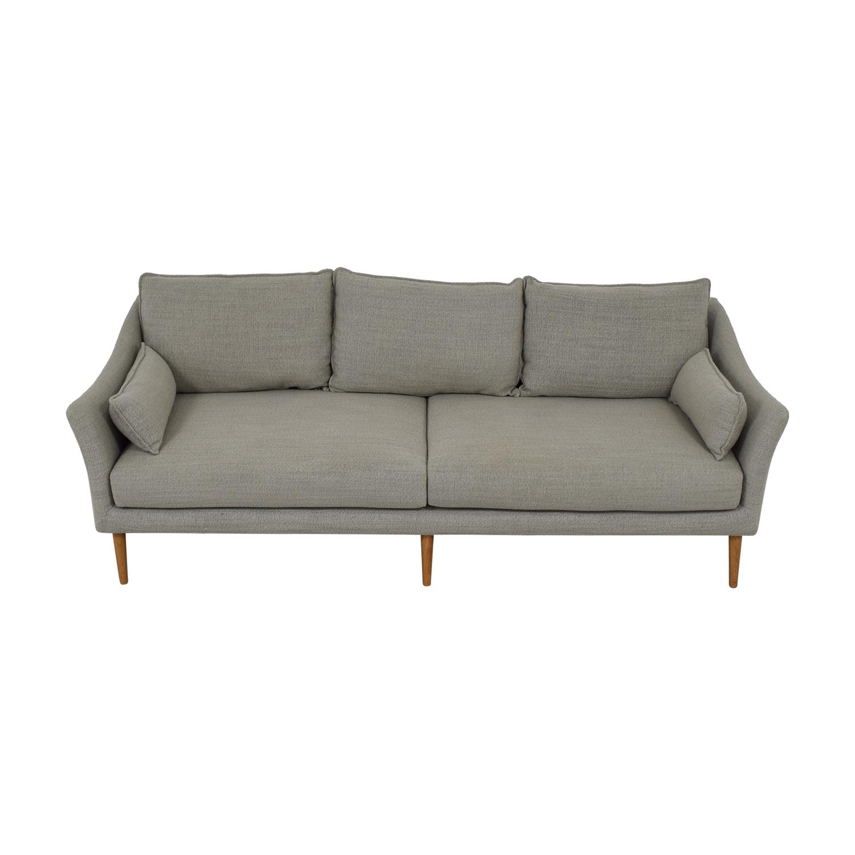 West Elm Antwerp Grey Two-Cushion Sofa sale