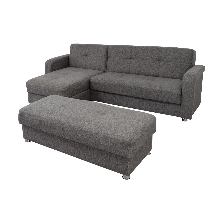 Astounding 54 Off Istikbal Istikbal Grey Convertible Sectional Sofa With Ottoman Bench Sofas Frankydiablos Diy Chair Ideas Frankydiabloscom