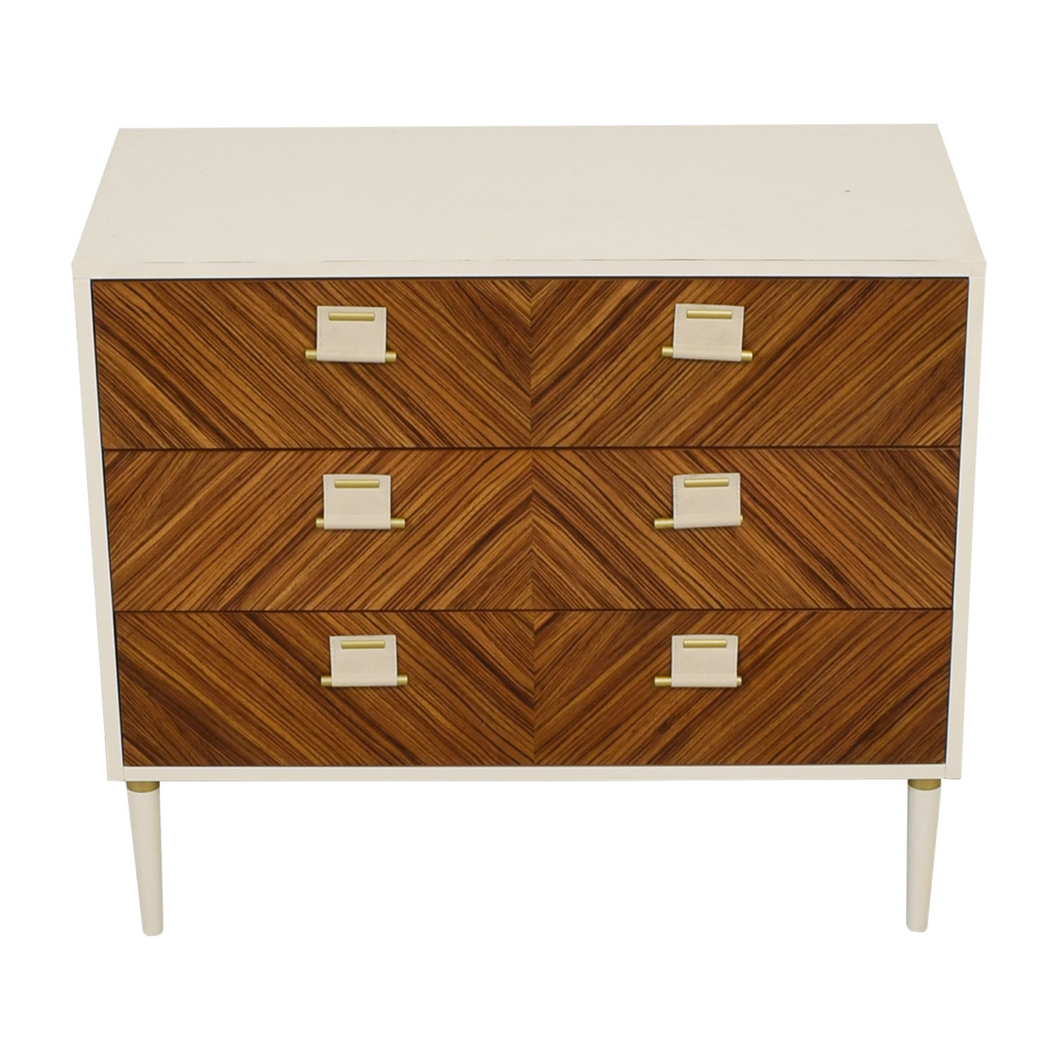 shop Anthropologie Anthropologie Geo-Marquetry White and Wood Three-Drawer Dresser online