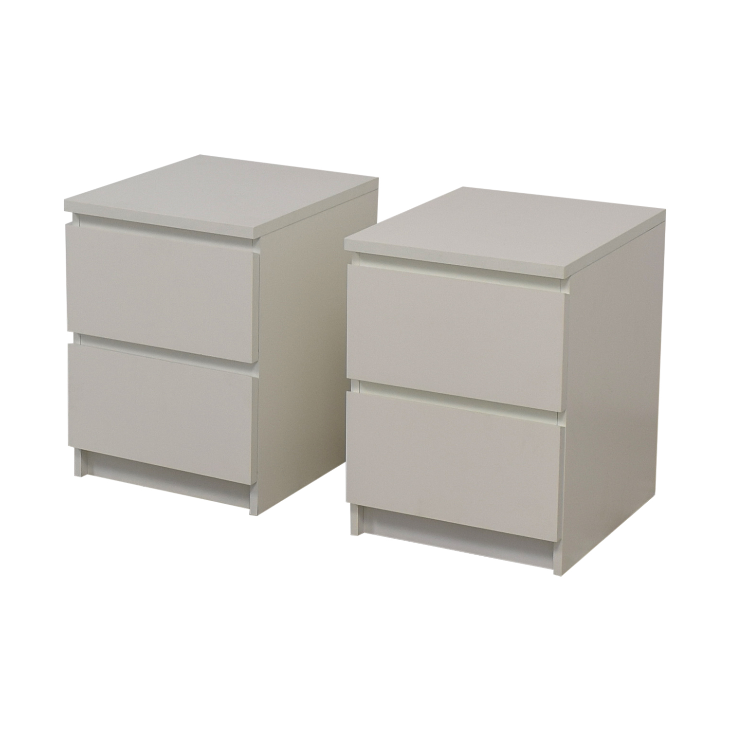 53 Off Ikea Ikea Malm White Two Drawer End Tables Tables
