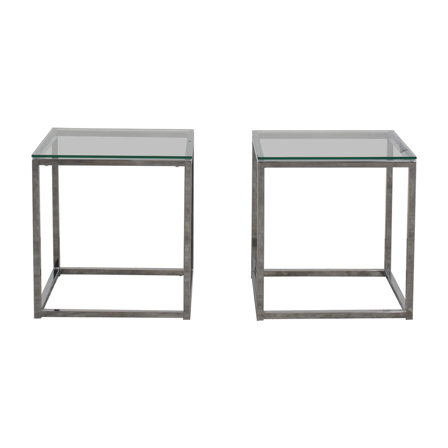 CB2 CB2 Glass Side Tables used