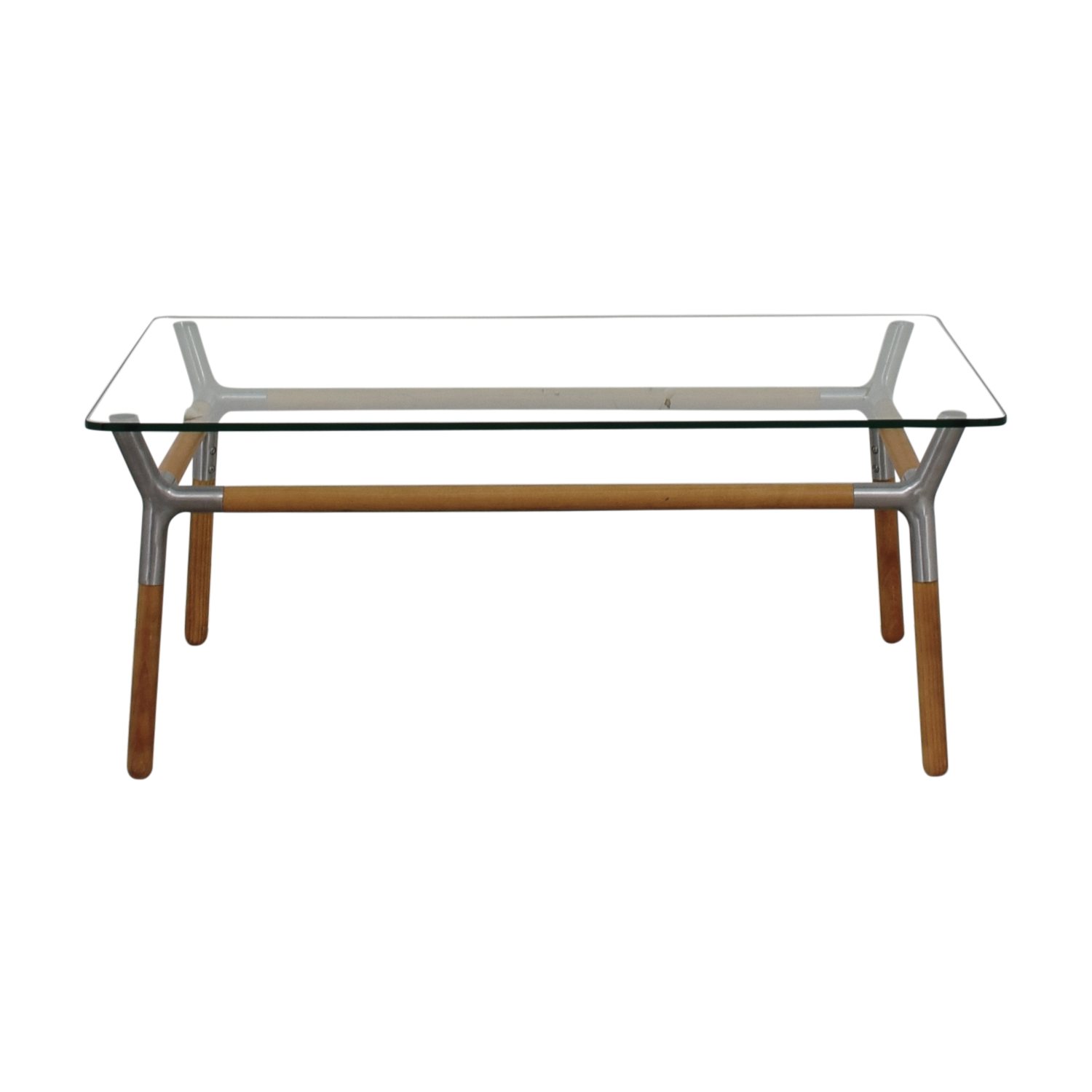 shop Umbra Glass and Chrome Coffee Table Umbra Coffee Tables