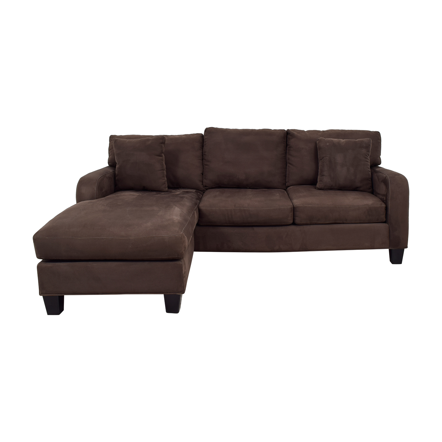 Incroyable Cindy Crawford Home Cindy Crawford Home Brown Chaise Sectional Second Hand  ...