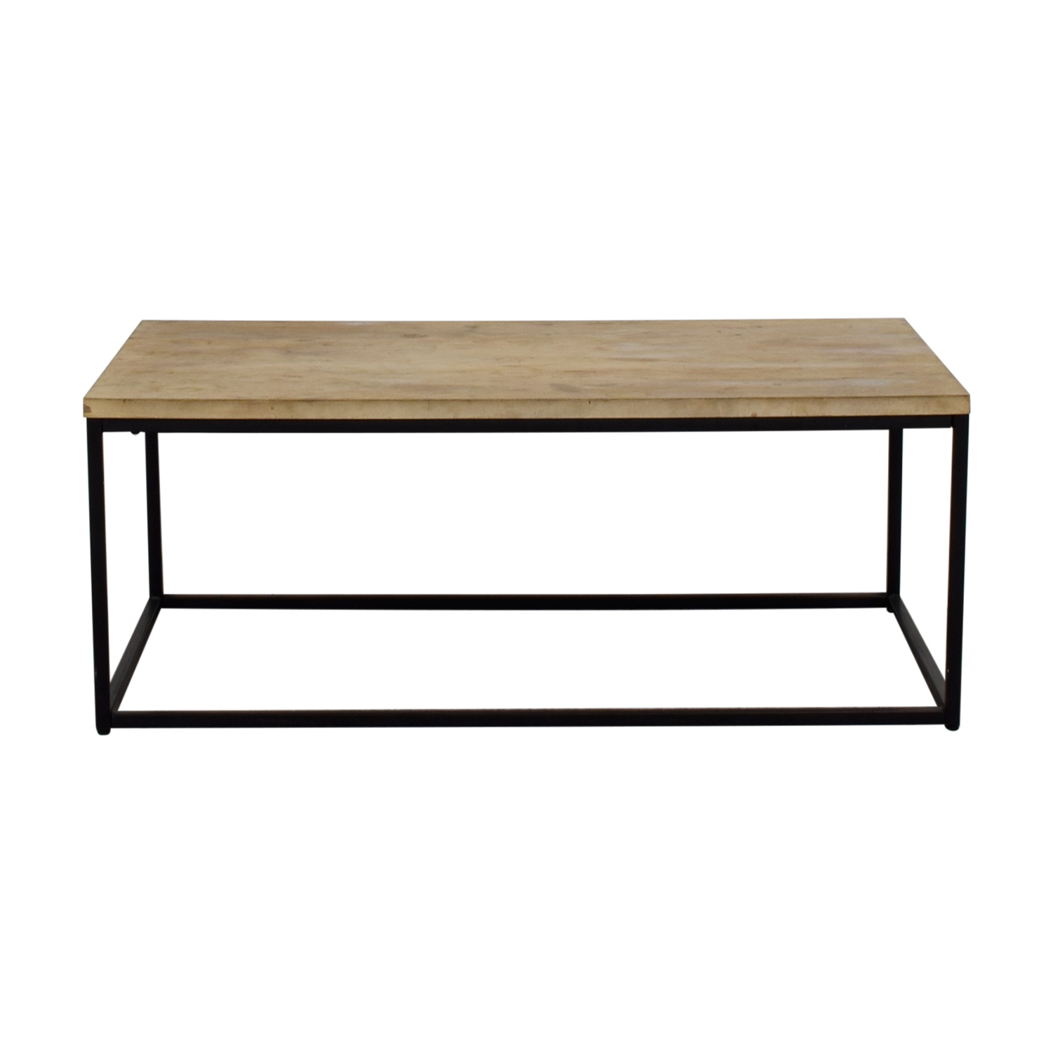 West Elm West Elm Box Frame Wooden Coffee Table Tan