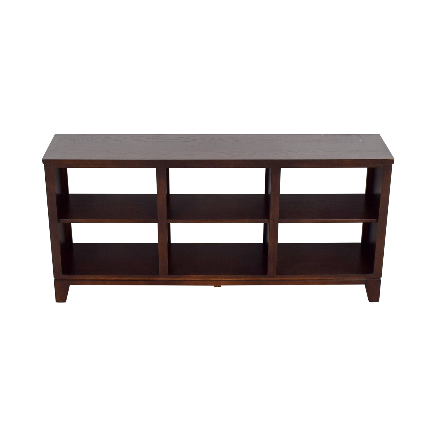 Ethan Allen Wood Horizontal Bookcase sale