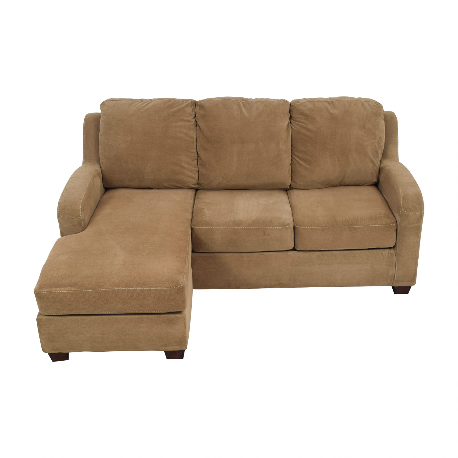 Ashley Furniture Tan Chaise Sectional sale