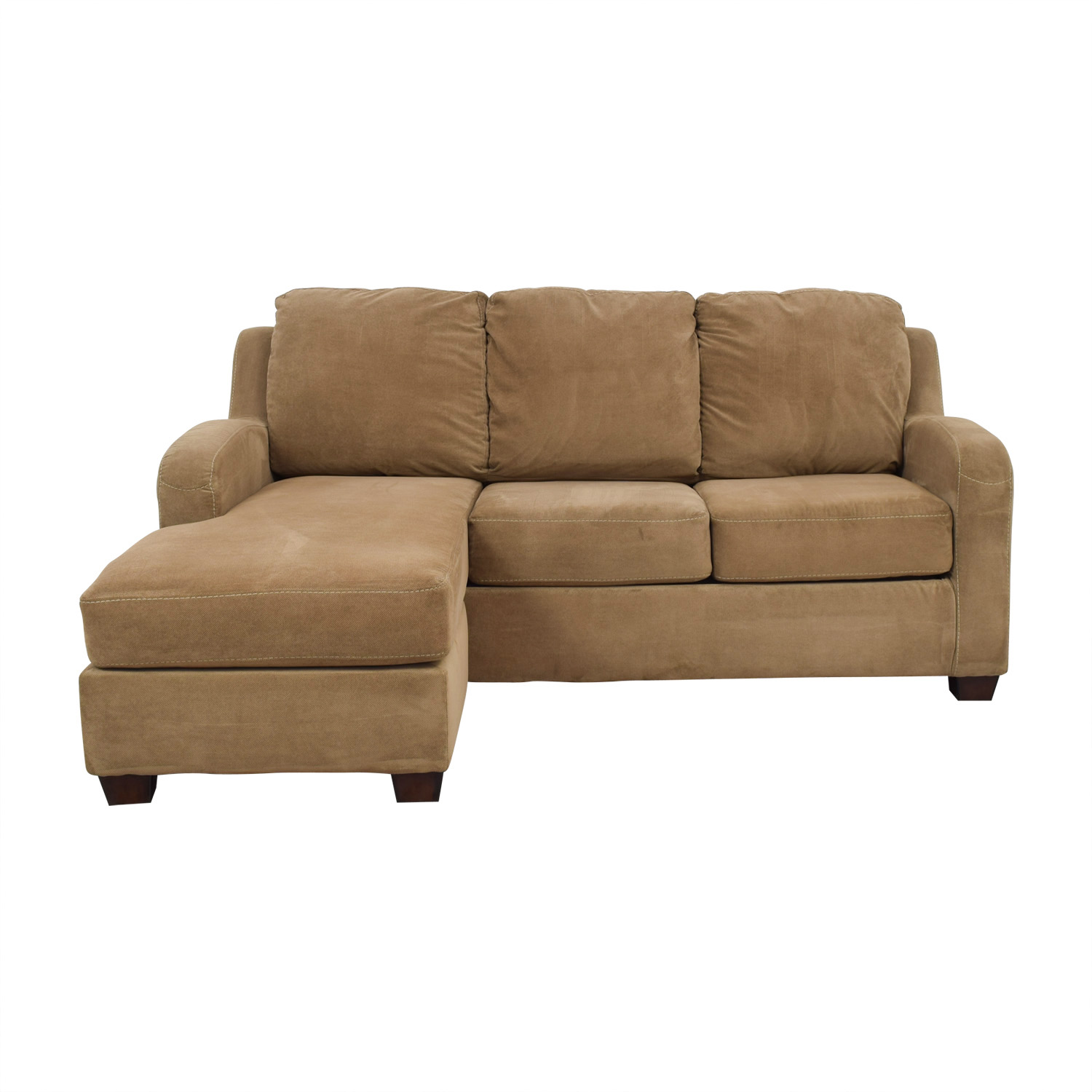 71% OFF - Ashley Furniture Ashley Furniture Tan Chaise ...