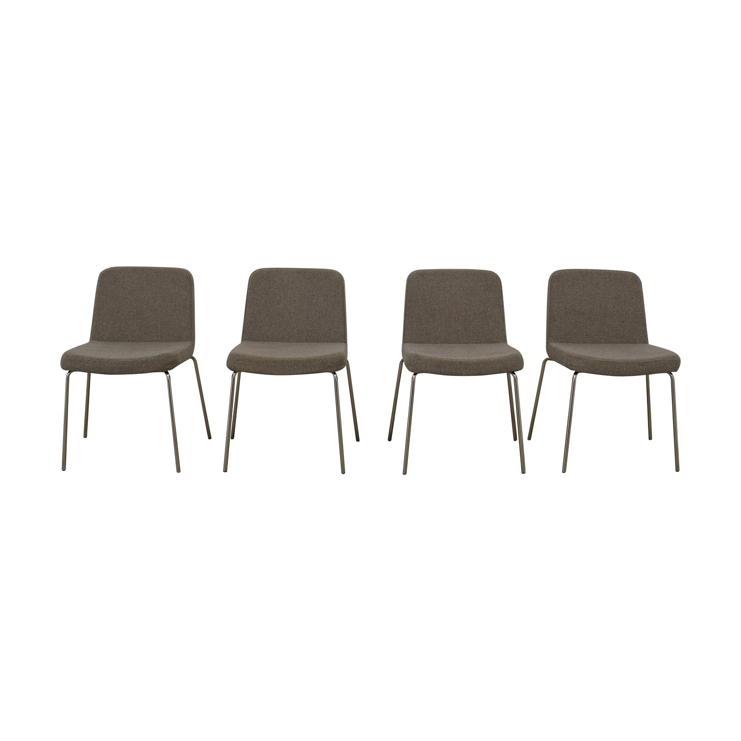 CB2 CB2 Grey Upholstered Dining Chairs discount
