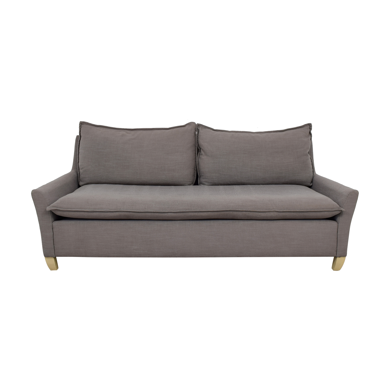 shop West Elm Grey Single Cushion Couch West Elm
