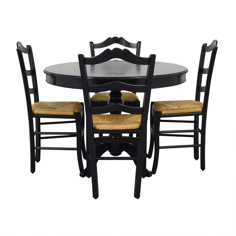 Black Round Dining Set: Ballard Designs Ballard Design Black Round