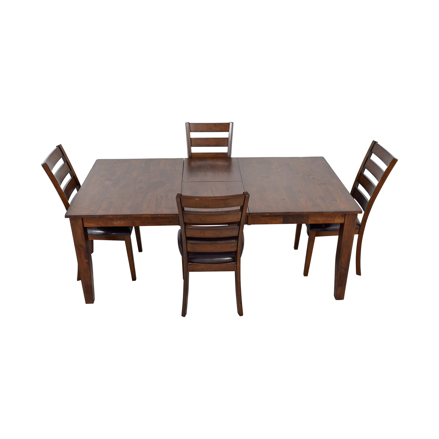 Raymour & Flanigan Raymour & Flanigan Wood Extendable Kitchen Dining Set nyc