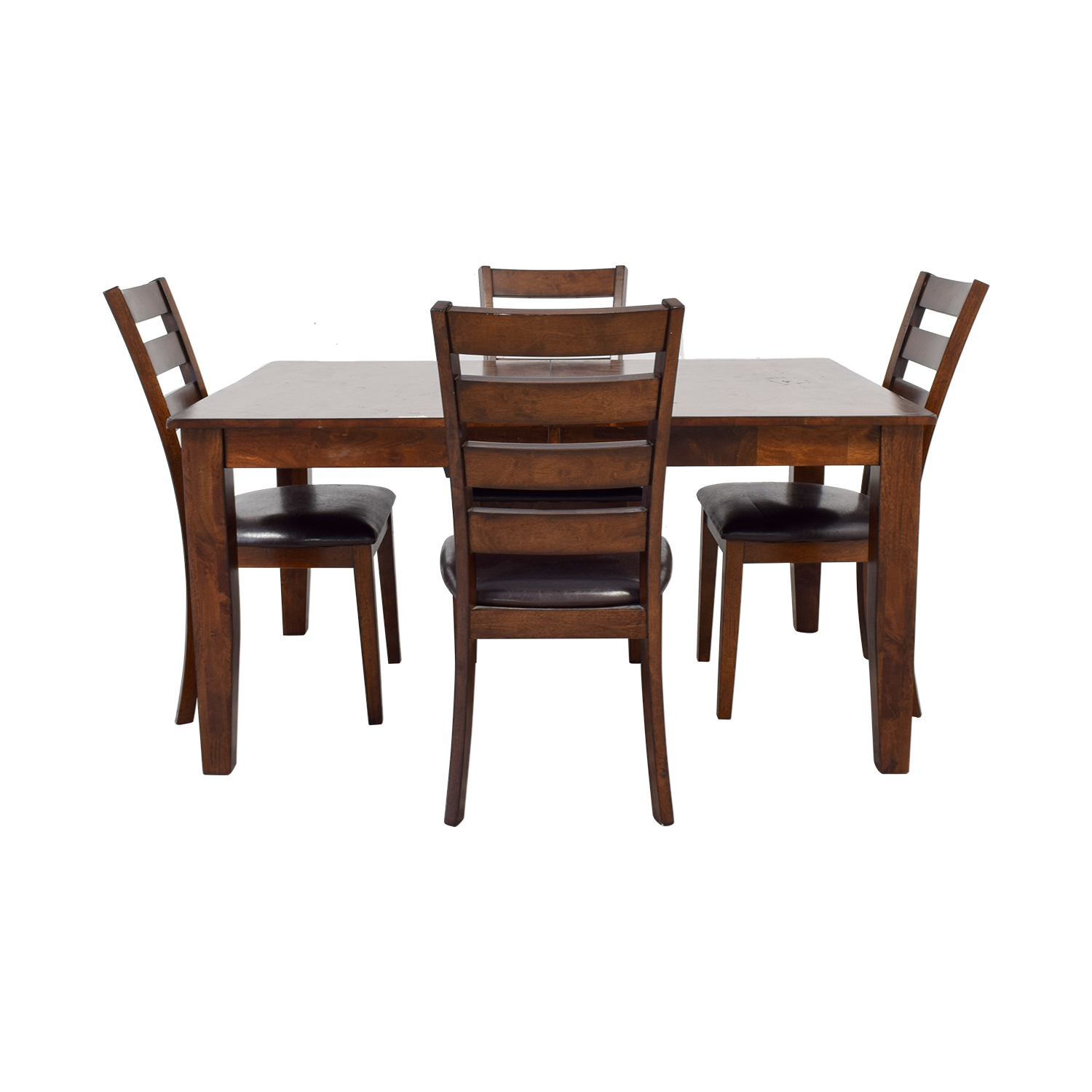 Raymour & Flanigan Raymour & Flanigan Wood Extendable Kitchen Dining Set