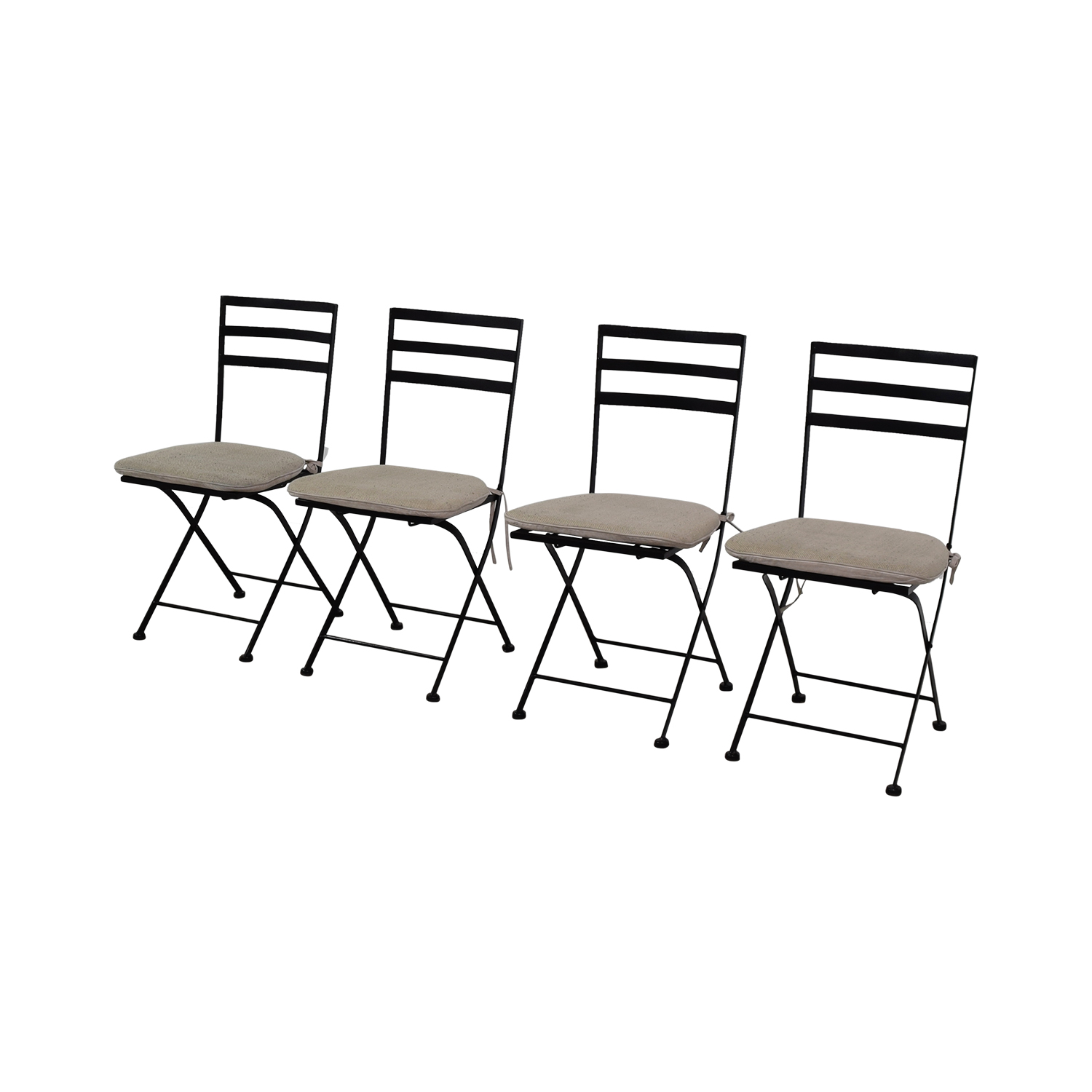 Groovy 56 Off 4D Concepts 4D Concept Black Heavy Duty Foldable Chairs With Beige Cushions Chairs Ncnpc Chair Design For Home Ncnpcorg
