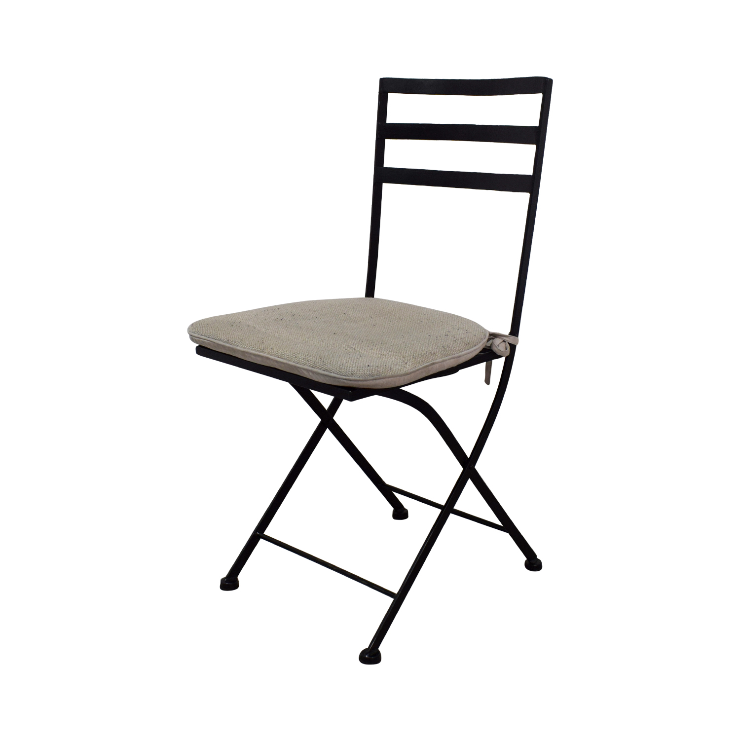 Fine 56 Off 4D Concepts 4D Concept Black Heavy Duty Foldable Chairs With Beige Cushions Chairs Ncnpc Chair Design For Home Ncnpcorg