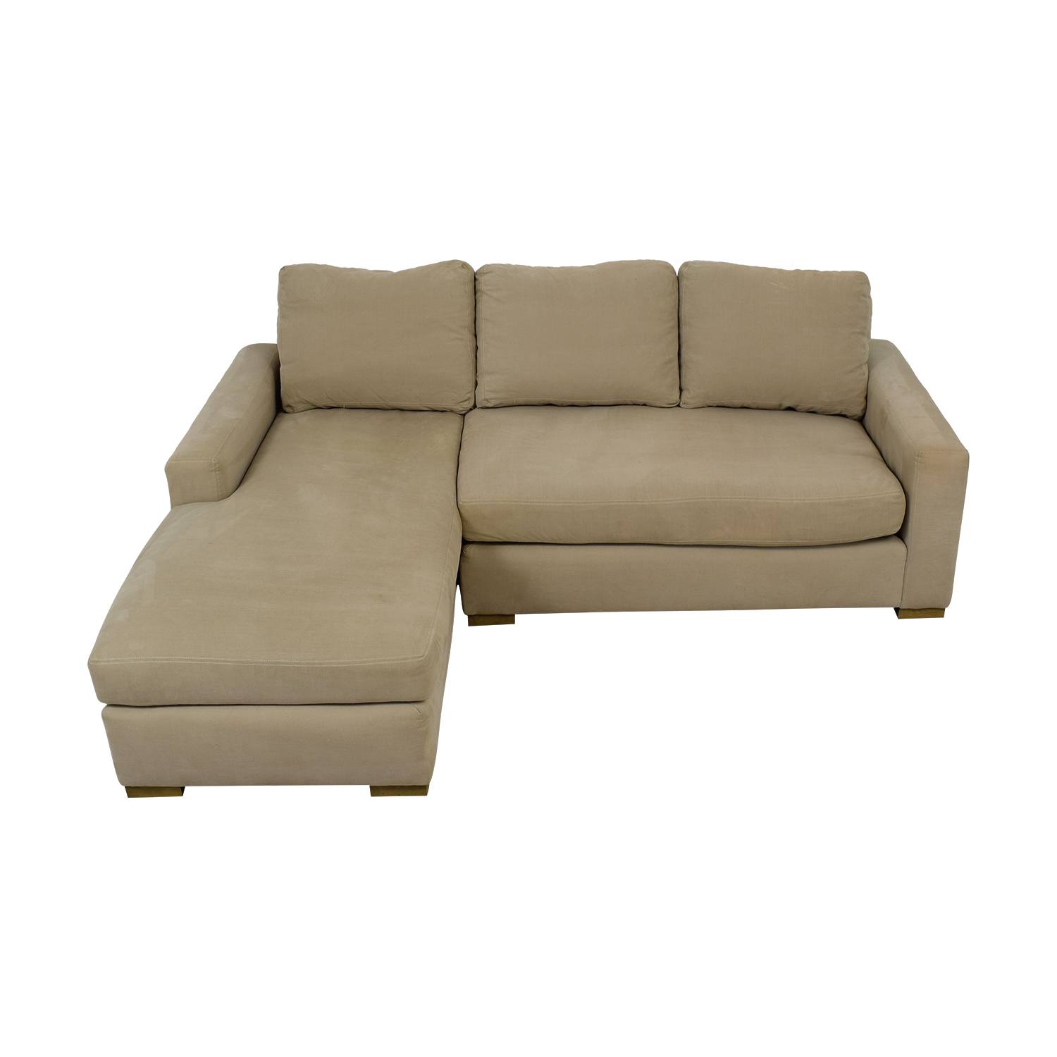 Restoration Hardware Restoration Hardware Beige Petite Chaise Sectional